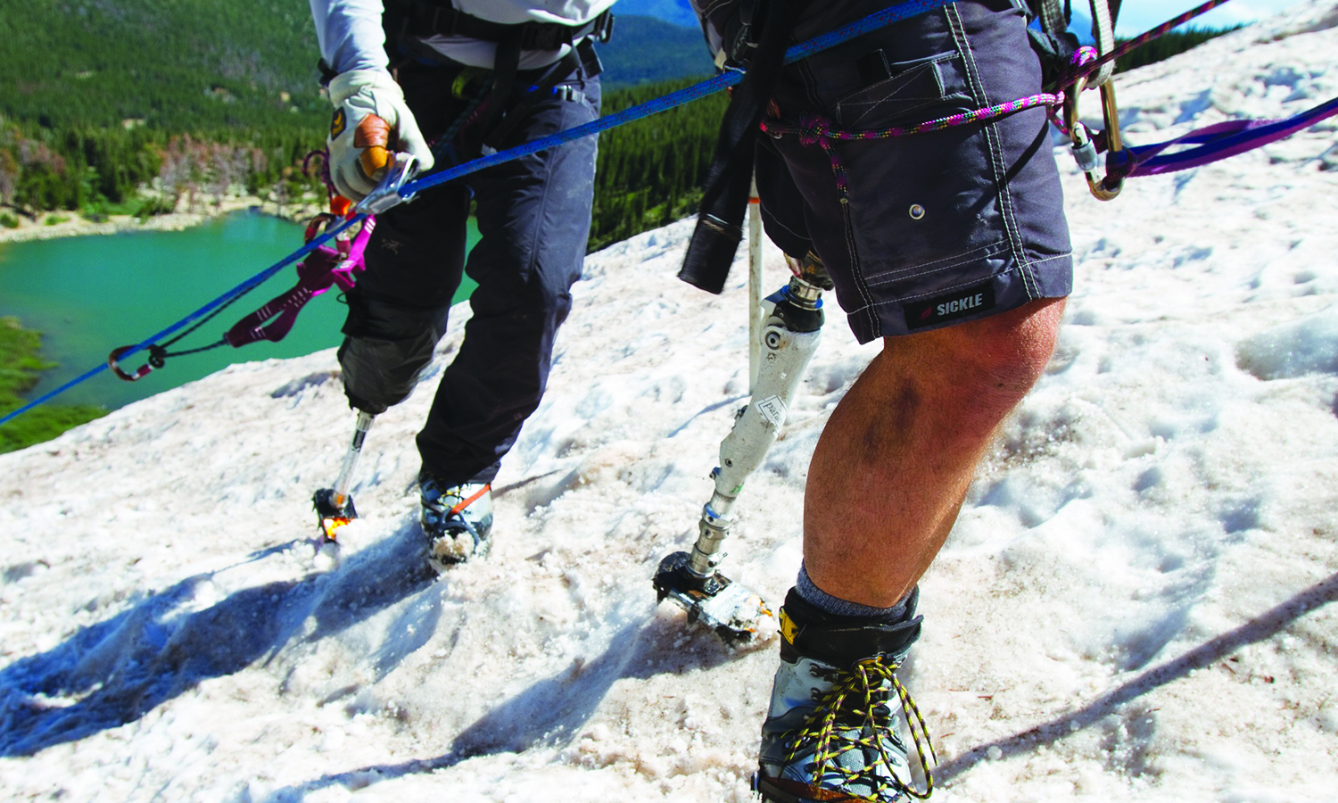 The Soldiers to the Summit team is made of up people with varying disabilities including amputees.
