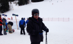 Author of blog in skis on snowy mountain