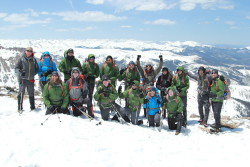 Mission: Mt. Whitney Team atop St. Mary's Glacier during their 1st team training