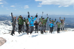 The Mission: Mt. Whitney team atop St. Mary's Glacier at team training in mid-May