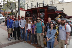 Members of Mission: Mt. Whitney arrive in Golden, Colorado for gear distribution and are greeted by our sponsor, Wells Fargo.