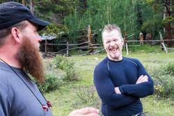 Jeremy and Stuart at basecamp