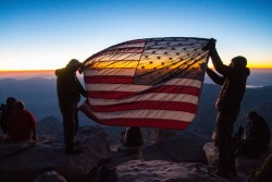 The summit of Mt. Whitney with the Mission: Mt. Whitney veterans