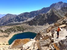 A view from Kearsarge Pass down 8,000 ft towards the valley