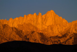 View of Mt. Whitney from the beginning of the hike