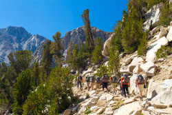 A group of Mission: Mt. Whitney heading towards Mt. Whitney